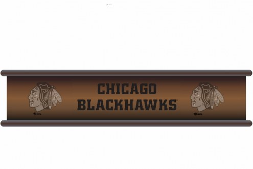Chicago Blackhawks Wood Wall Shelf