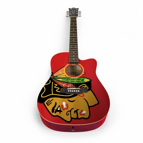 Chicago Blackhawks Woodrow Acoustic Guitar