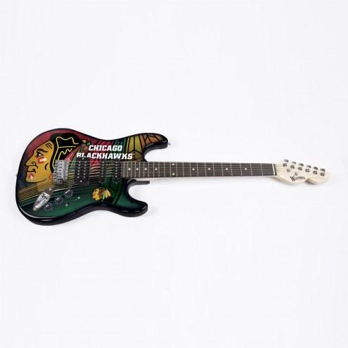 Chicago Blackhawks Woodrow Northender Electric Guitar