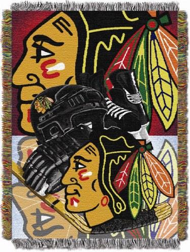 Chicago Blackhawks Woven Tapestry Throw Blanket
