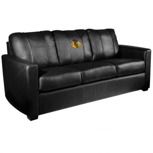 Chicago Blackhawks XZipit Silver Sofa