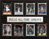 """Chicago Bulls 12"""" x 15"""" All-Time Greats Plaque"""