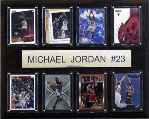 "Chicago Bulls 12"" x 15"" Michael Jordan 8 Card Plaque"