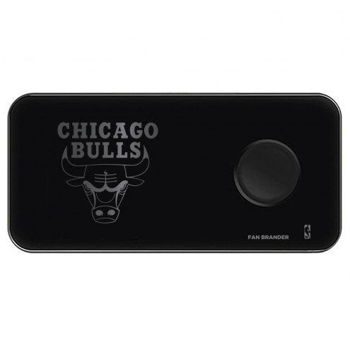 Chicago Bulls 3 in 1 Glass Wireless Charge Pad