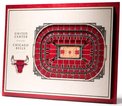 Chicago Bulls 5-Layer StadiumViews 3D Wall Art