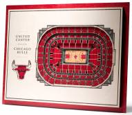 Chicago Bulls 5-Layer StadiumViews 3D Wall Art