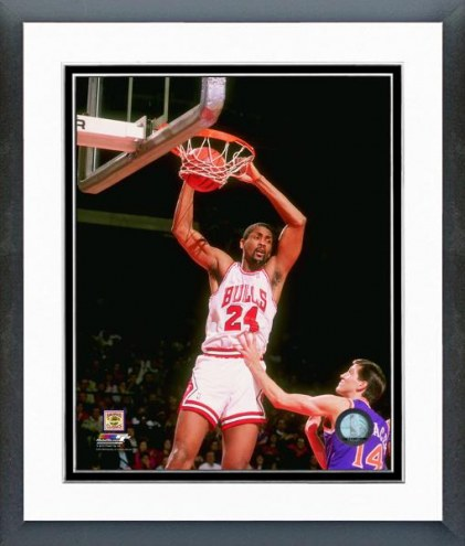 Chicago Bulls Bill Cartwright 1990 Action Framed Photo