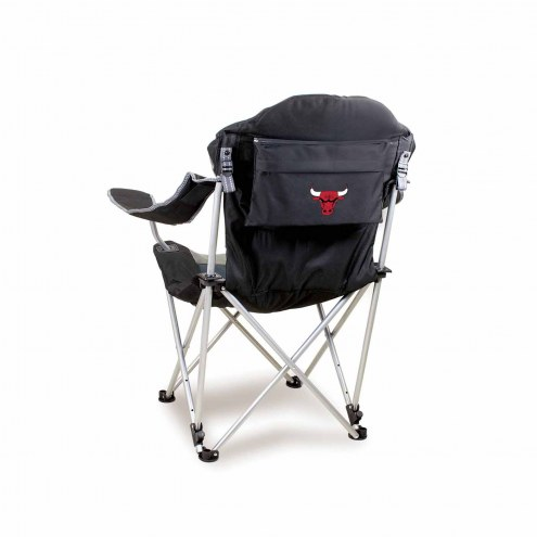 Chicago Bulls Black Reclining Camp Chair