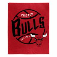 Chicago Bulls Blacktop Raschel Throw Blanket