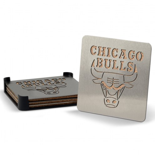 Chicago Bulls Boasters Stainless Steel Coasters - Set of 4
