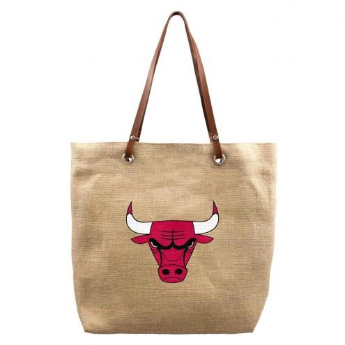 Chicago Bulls Burlap Market Tote