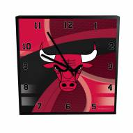 Chicago Bulls Carbon Fiber Square Clock