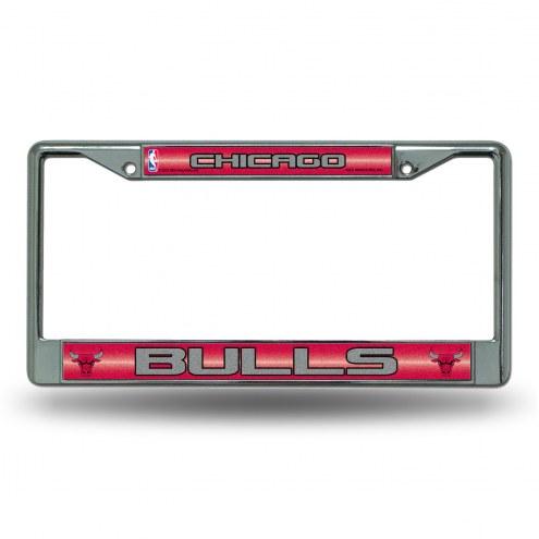 Chicago Bulls Chrome Glitter License Plate Frame