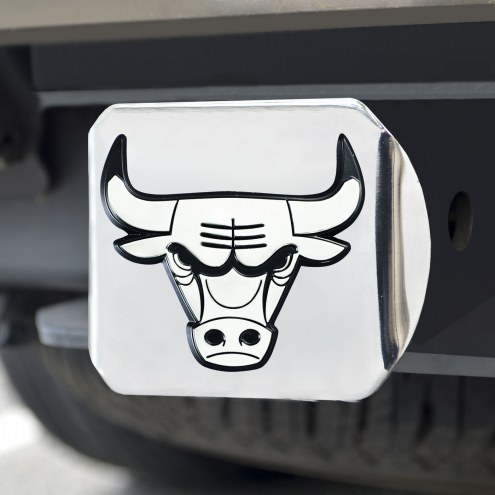 Chicago Bulls Chrome Metal Hitch Cover