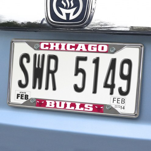 Chicago Bulls Chrome Metal License Plate Frame