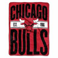Chicago Bulls Clear Out Throw Blanket