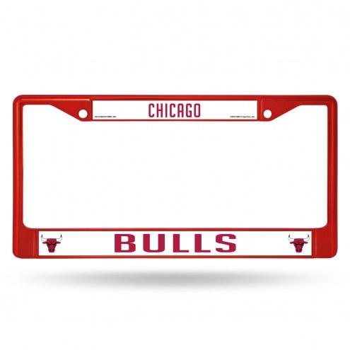 Chicago Bulls Color Metal License Plate Frame