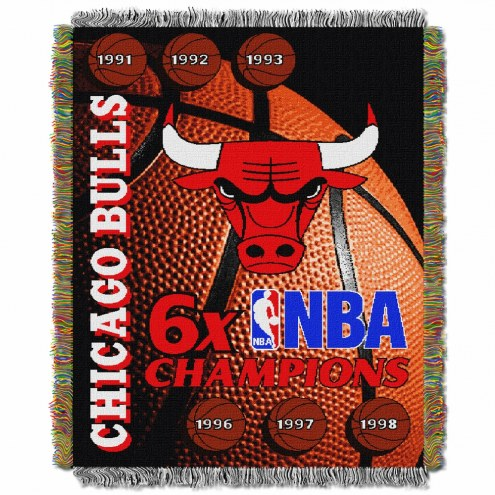 Chicago Bulls Commemorative Champs Throw Blanket