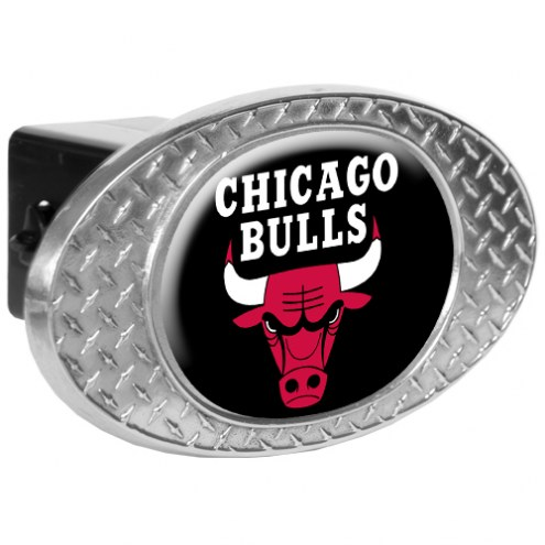 Chicago Bulls Metal Diamond Plate Trailer Hitch Cover
