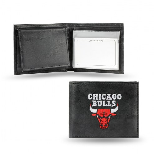 Chicago Bulls Embroidered Leather Billfold Wallet