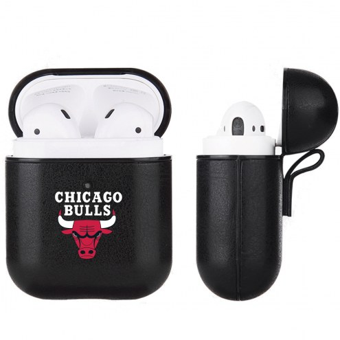 Chicago Bulls Fan Brander Apple Air Pods Leather Case