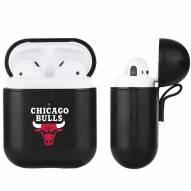 Chicago Bulls Fan Brander Apple Air Pods Leather Case