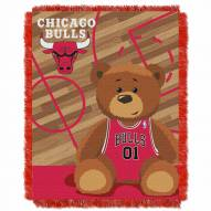 Chicago Bulls Half Court Baby Blanket