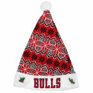 Chicago Bulls Knit Santa Hat