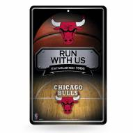 Chicago Bulls Large Embossed Metal Wall Sign
