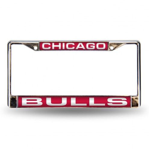 Chicago Bulls Laser Chrome License Plate Frame