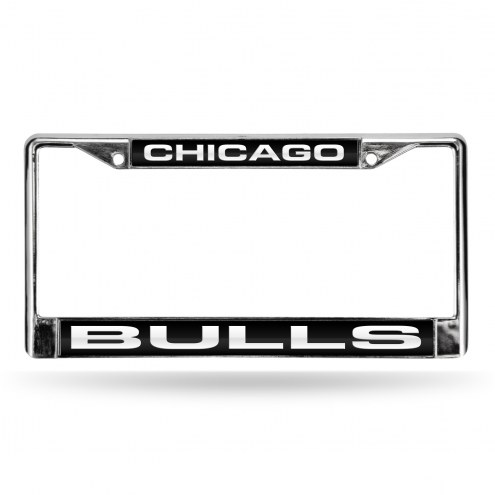 Chicago Bulls Laser Chrome License Plate Frame
