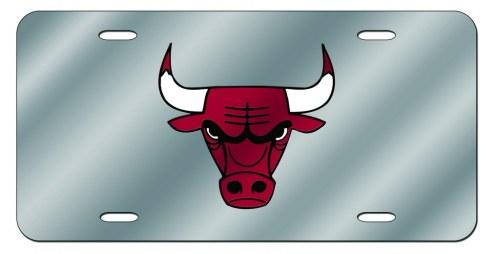 Chicago Bulls Laser Cut License Plate
