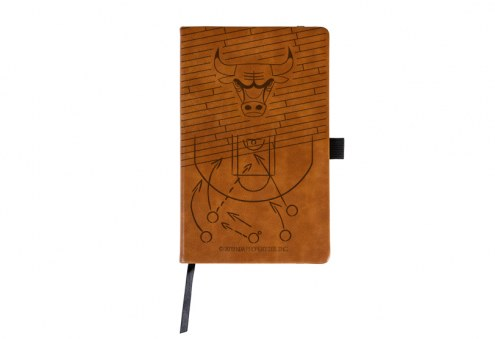 Chicago Bulls Laser Engraved Brown Notepad