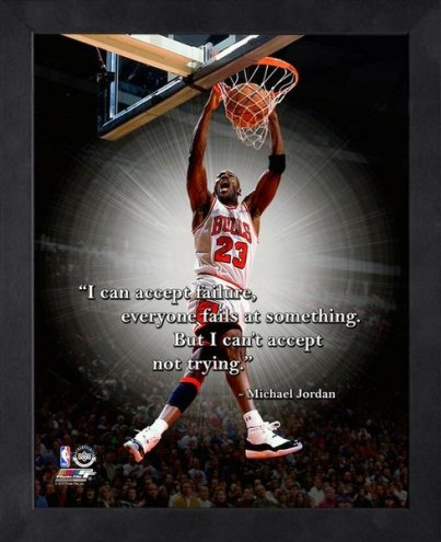 Chicago Bulls Michael Jordan NBA Framed Pro Quote