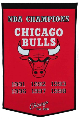 Winning Streak Chicago Bulls NBA Dynasty Banner