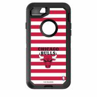 Chicago Bulls OtterBox iPhone 8/7 Defender Stripes Case