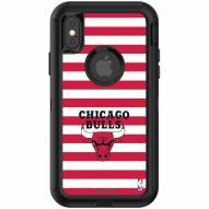 Chicago Bulls OtterBox iPhone X/Xs Defender Stripes Case