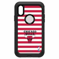 Chicago Bulls OtterBox iPhone XR Defender Stripes Case