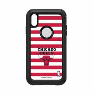 Chicago Bulls OtterBox iPhone XS Max Defender Stripes Case