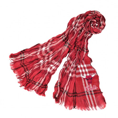 Chicago Bulls Plaid Crinkle Scarf