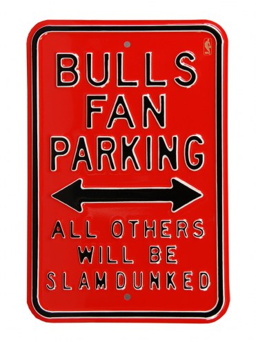 Chicago Bulls Slam Dunked Parking Sign