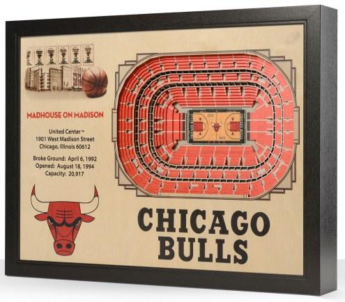 Chicago Bulls 25-Layer StadiumViews 3D Wall Art