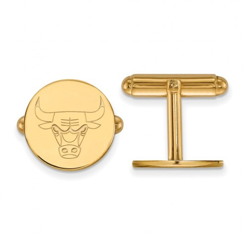 Chicago Bulls Sterling Silver Gold Plated Cuff Links