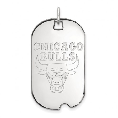 Chicago Bulls Sterling Silver Large Dog Tag