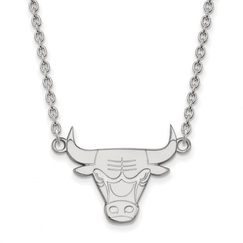 Chicago Bulls Sterling Silver Large Pendant Necklace