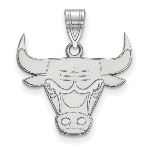 Chicago Bulls Sterling Silver Large Pendant