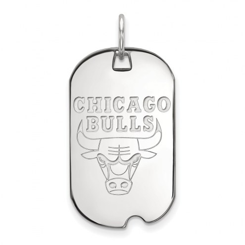 Chicago Bulls Sterling Silver Small Dog Tag