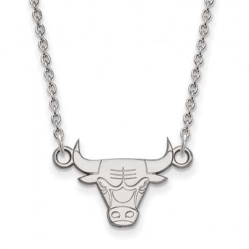 Chicago Bulls Sterling Silver Small Pendant Necklace