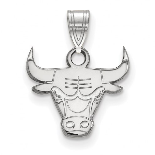 Chicago Bulls Sterling Silver Small Pendant