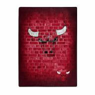 Chicago Bulls Street Raschel Throw Blanket